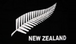 New Zealand Fern Large Flag - 5' x 3'.